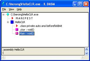 Note that  NET IL Disassembler can only be used to open CLR based PE