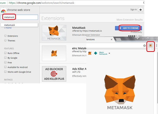 Install MetaMask Extension for Chrome