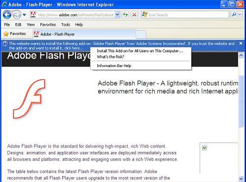adobe flash player test page