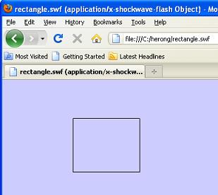 SWF File Example - rectangle swf