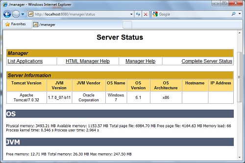 How To Install And Configure Apache Tomcat7 Server In Windows