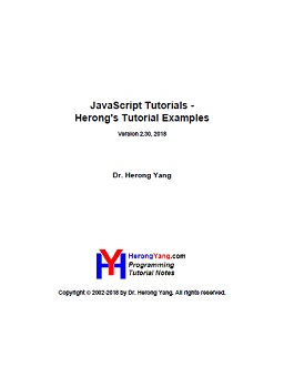 Full Version in PDF/EPUB: JavaScript Tutorials