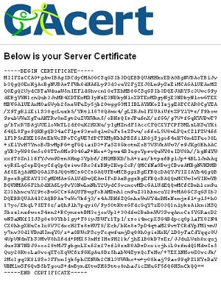 Getting Server Certificate Signed by CAcert.org