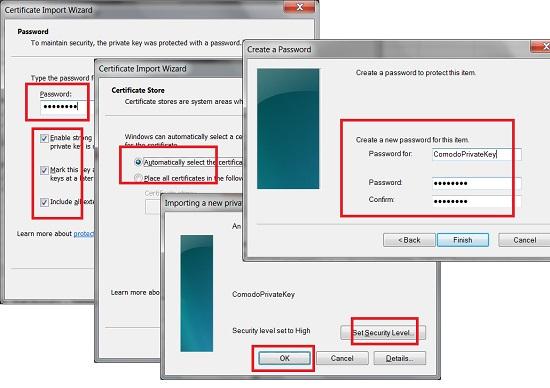 Installing Comodo Personal Certificate to Windows
