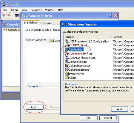 Creating Certificates Console as a MMC Snap-In