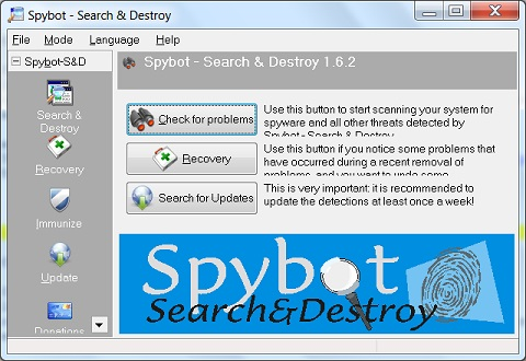 Installing spybot search and destroy 1. 6. 2.