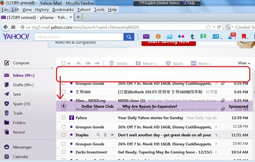 how to delete ads in yahoo email