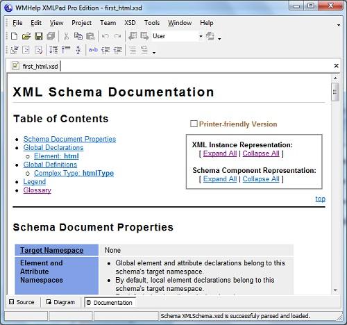 Generating xml schema documentations xmlpad generate xml schema documentation publicscrutiny Gallery
